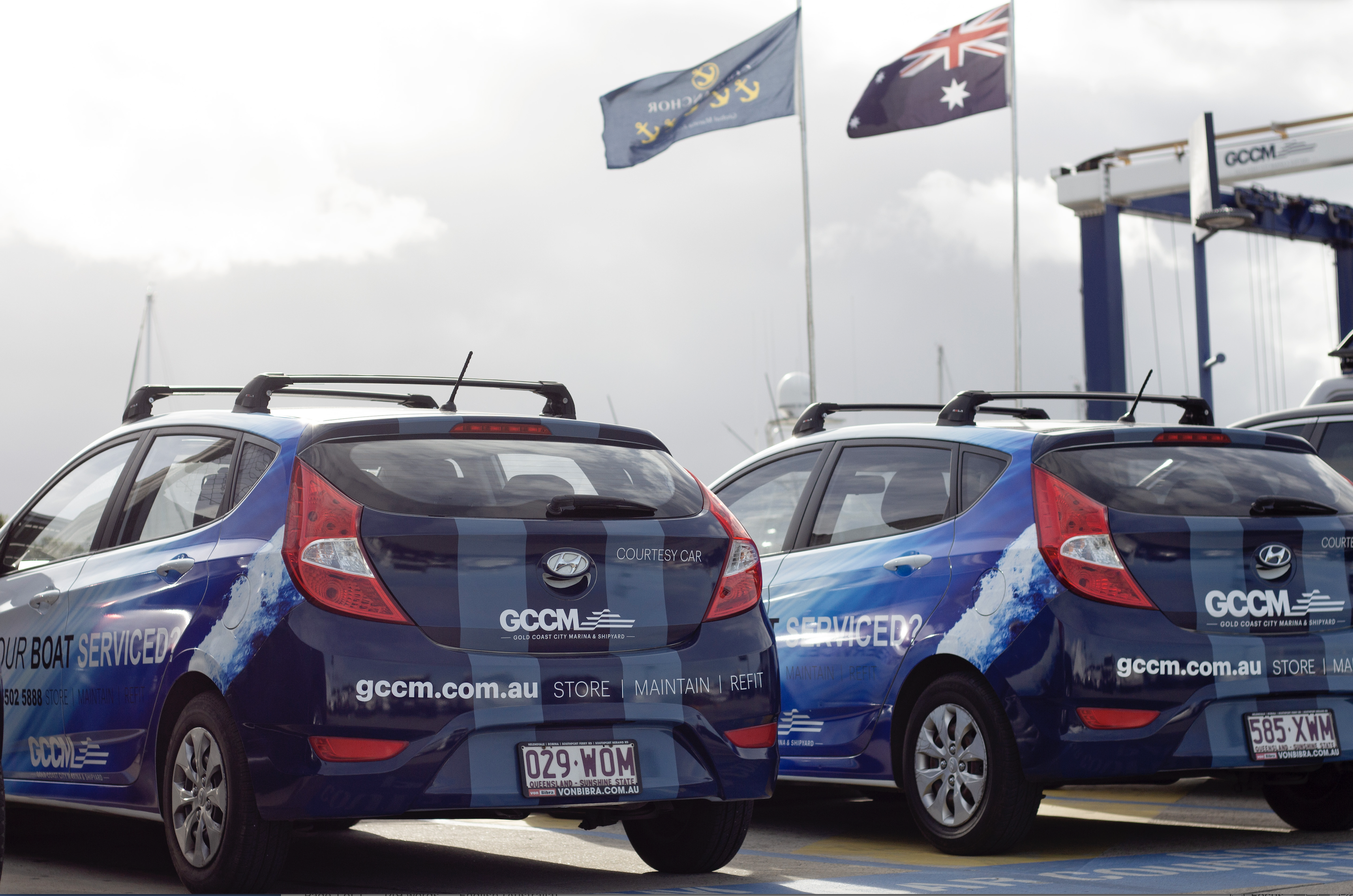 GCCM marina and shipyard guests have access to complimentary courtesy cars