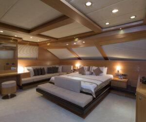 Luxury yacht interior, yacht cabin